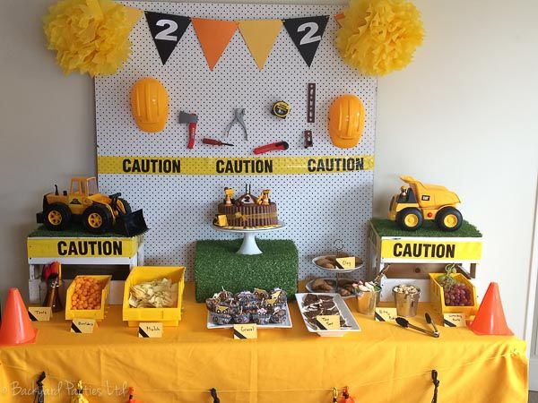 construction party theme table hire auckland