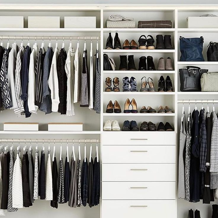 "581 Likes, 7 Comments - The Container Store (@thecontainerstore) on Instagram: ""Turn your #closetgoals into a reality.  #customclosets #closetorganization #organization…"""