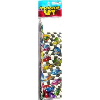 Racing Car Checkered Flag Stationery Set For Party Favour / Loot Bag - 1 Pack