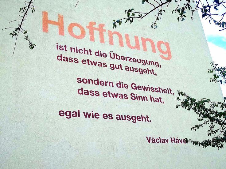Havel-Zitat Hoffnung in Weimar, Ettersburger Strasse - Václav Havel – Wikipedia