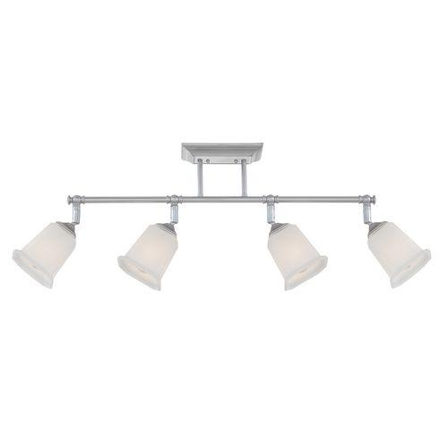 image modern track lighting. quoizel lighting modern track light kit with white glass in polished chrome finish nl1404c image