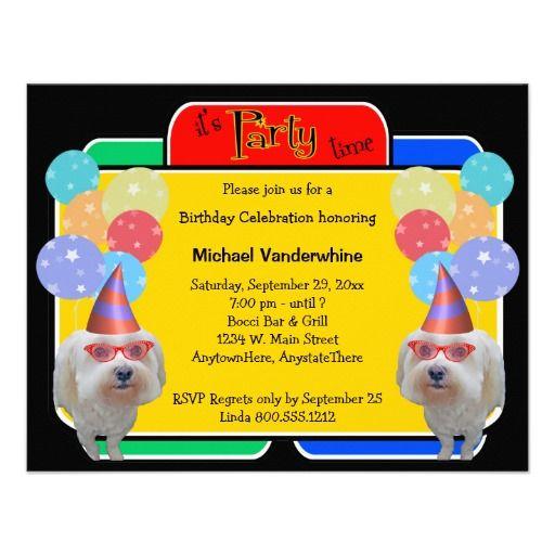 144 best dog puppy birthday theme images on pinterest puppy maltese birthday barker card stopboris Image collections