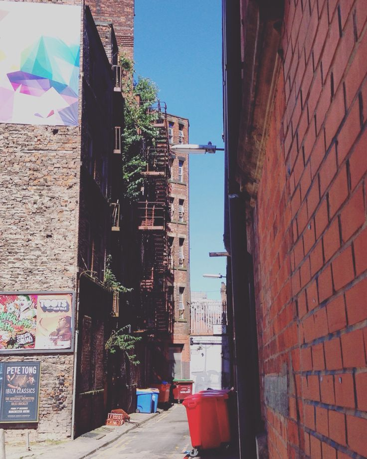 Back alley in Northern Quarter, Manchester