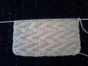 Tuto tricot . Point de tricot Point losanges obliques - YouTube