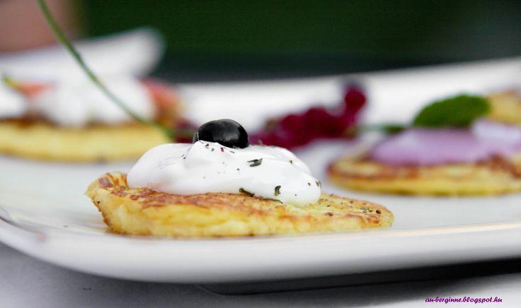 Zucchini Blinis / Előétel: cukkinis blinik