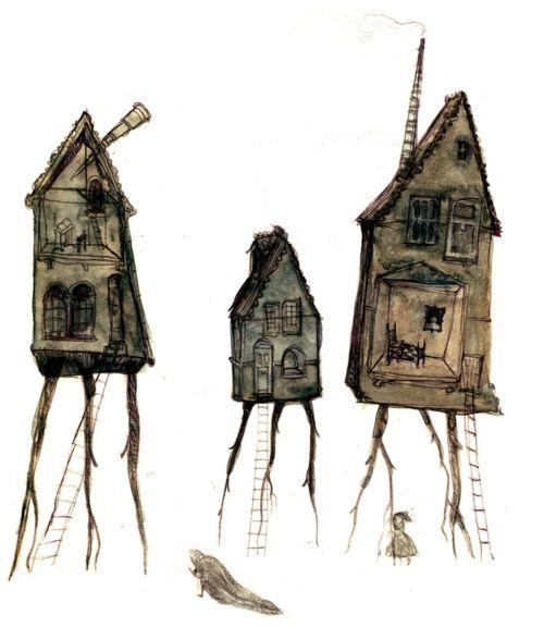 """Oliver Hunter. """"Spirit Houses"""""""