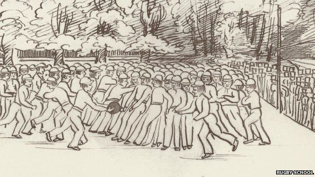 A 19th Century rugby match