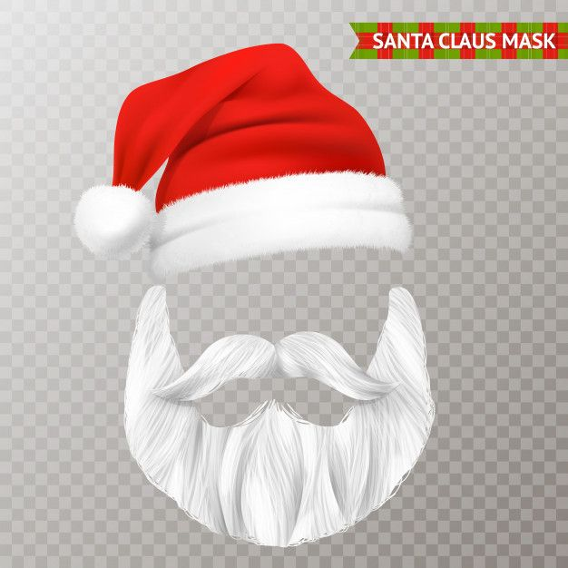 Download Santa Claus Transparent Christmas Mask For Free Santa Claus Office Christmas Decorations Vector Free