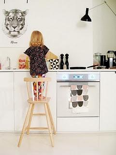 Fint køkken. Bemærk at plakaten er sat op med sort Masking Tape.    www.coolnordic.dk