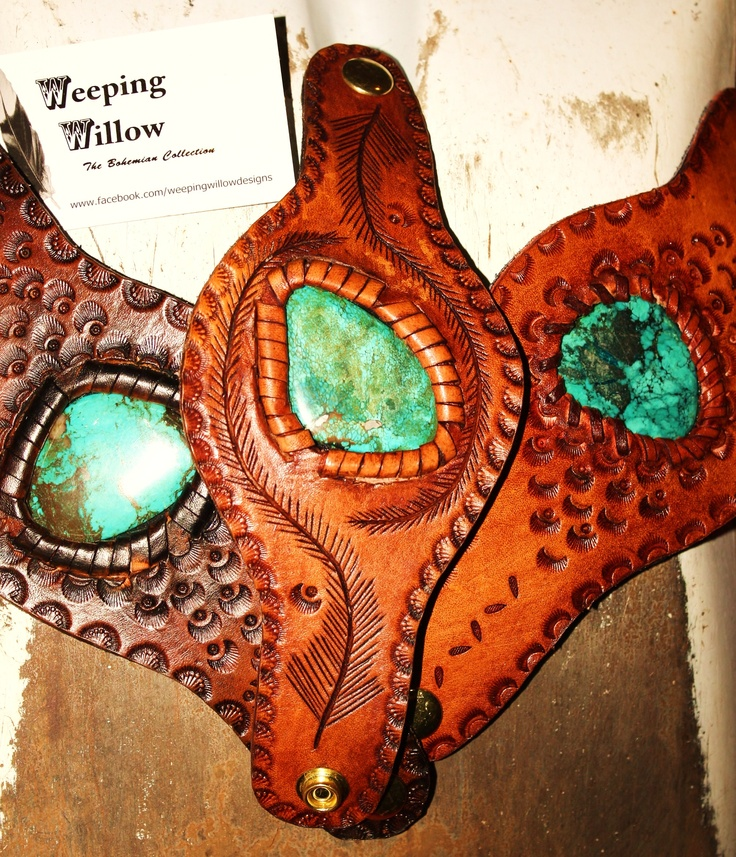 Cuffs with Gemstone Inset