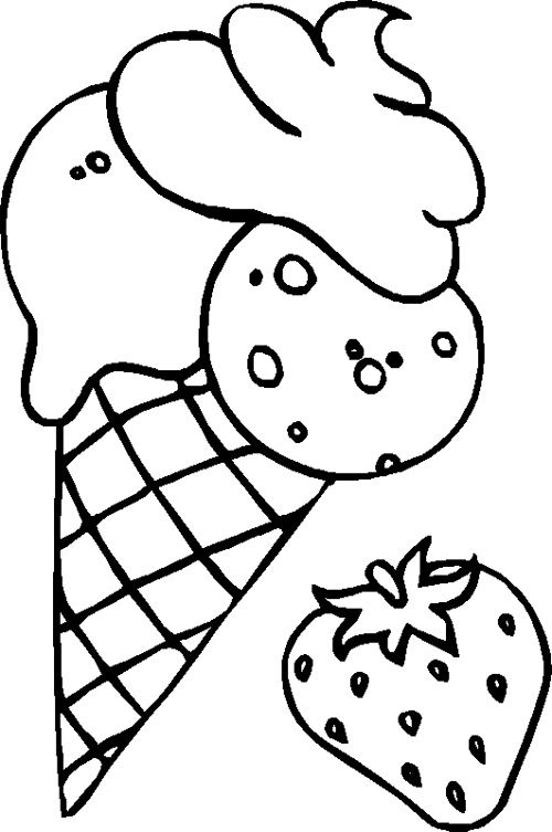 120 best cookie images on pinterest coloring sheets for Free coloring pages of ice cream