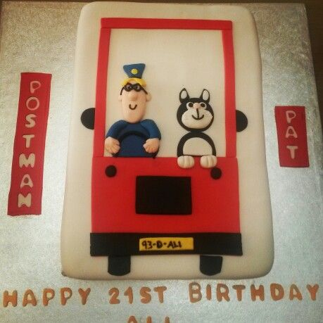 Postman Pat 21st birthday cake