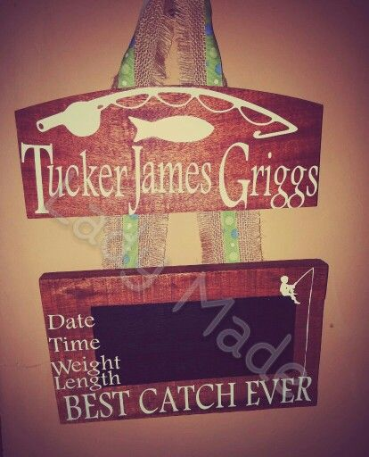 Hand made cypress chalk board  hoapital door hanger fishing themed      Lady Made piece
