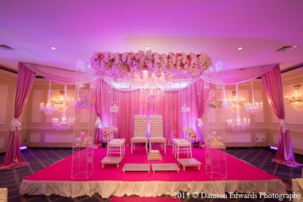 indian wedding mandap decor pink floral http://maharaniweddings.com/gallery/photo/12520