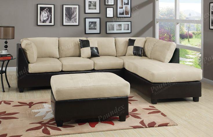 Microfiber Sectional Living Room Sets