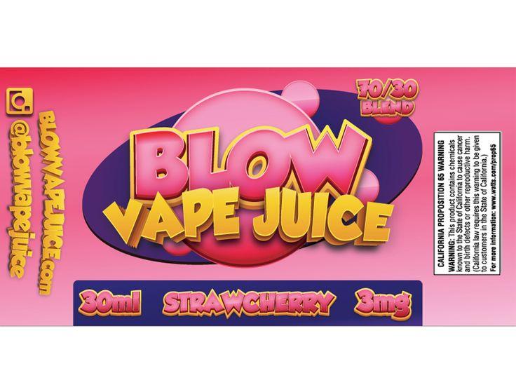 Blow Vape E-Juice Label