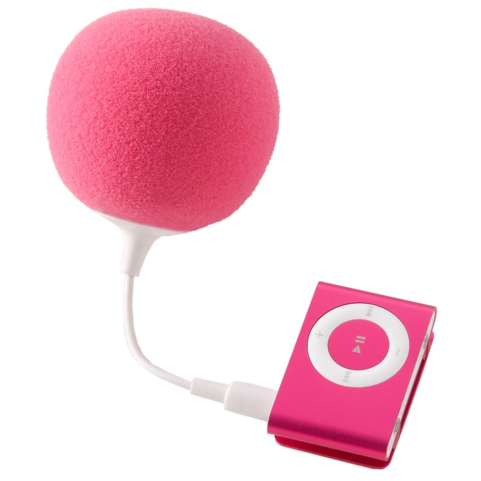 not super high tech, but I couldn't resist a handy little speaker like this.  Even works on phones.   And come on it's cute.