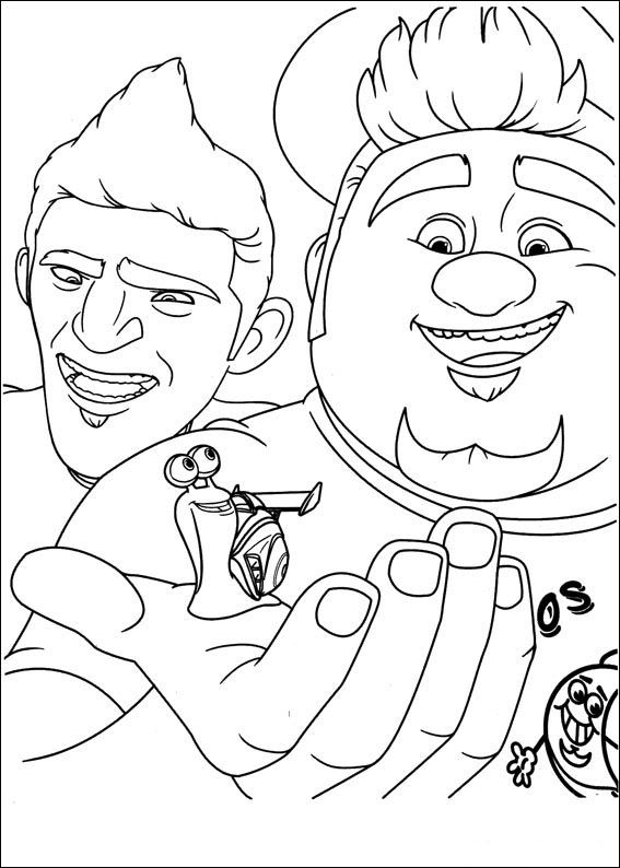 Turbo Coloring pages for kids. Printable. Online Coloring. 25