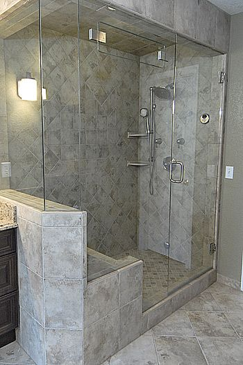Tile Steam Shower Steam Shower Master Bathroom