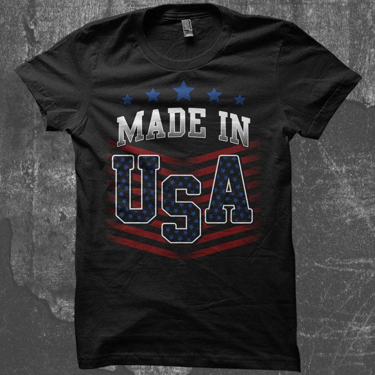 Made In USA T shirt design