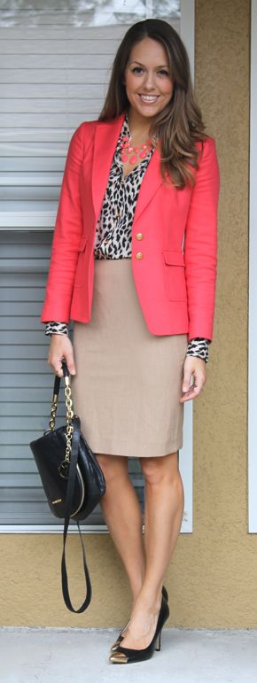 Today's Everyday Fashion: Leopard & Coral