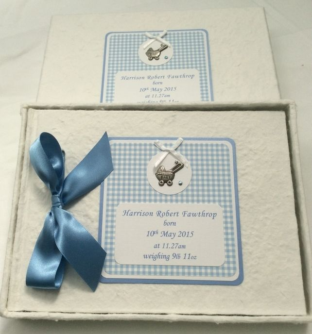Handmade New Baby Personalised Guest Book £17.99