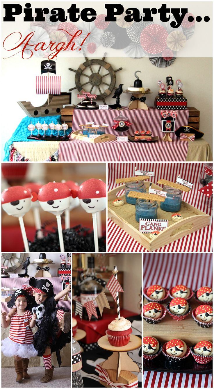 Great pirate party ideas, perfect for a boy birthday! See more party ideas at CatchMyParty.com.  #boybirthday #pirates