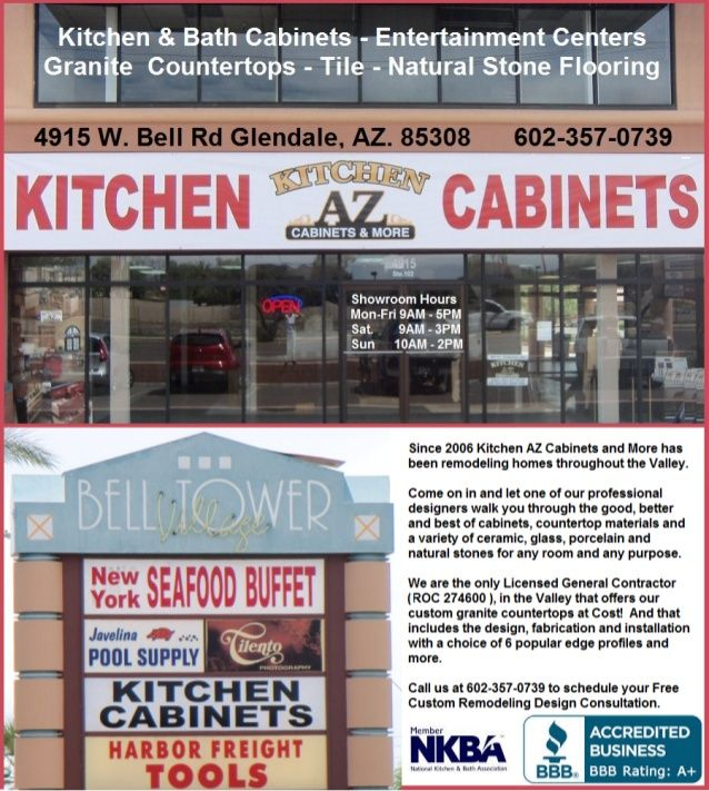 Phoenix Glendale Kitchen Remodeling Contractor Showroom Open Sundays By  Kitchen AZ Cabinets Via Slideshare