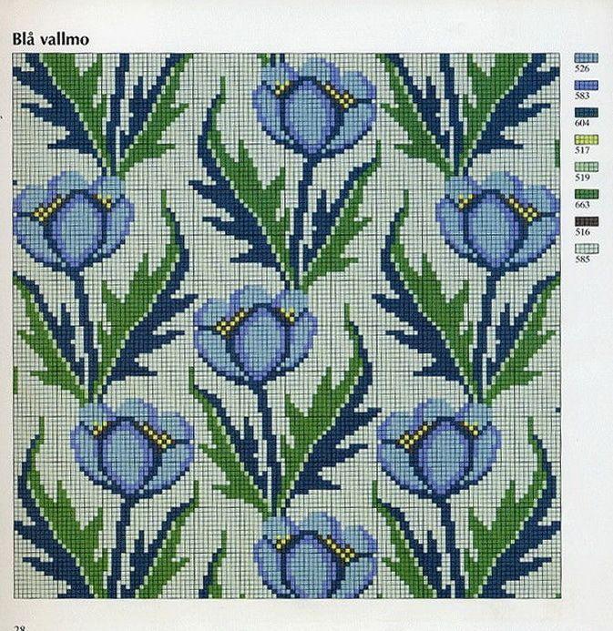 Ingrid Plum - Klassiskt korsstygns broderi (Classic Cross Stitch Embroidery)