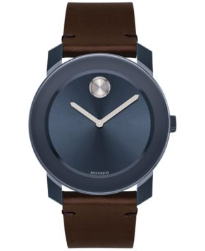 17 best ideas about movado mens watches men s movado men s swiss bold chocolate brown leather strap watch 42mm 3600461 brown