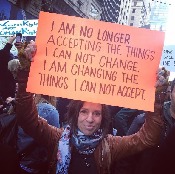 24 Signs From Trump Protests That Will Make You Feel A Little Better // must change what we cannot accept