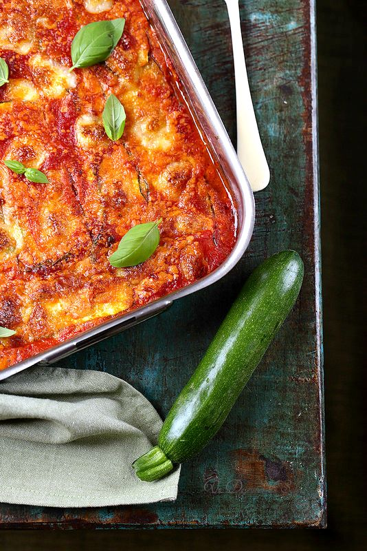 Un dejeuner de soleil: Parmigiana de courgettes (végétarien)
