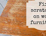 2-ingredient mixture erases scratches in wood furniture