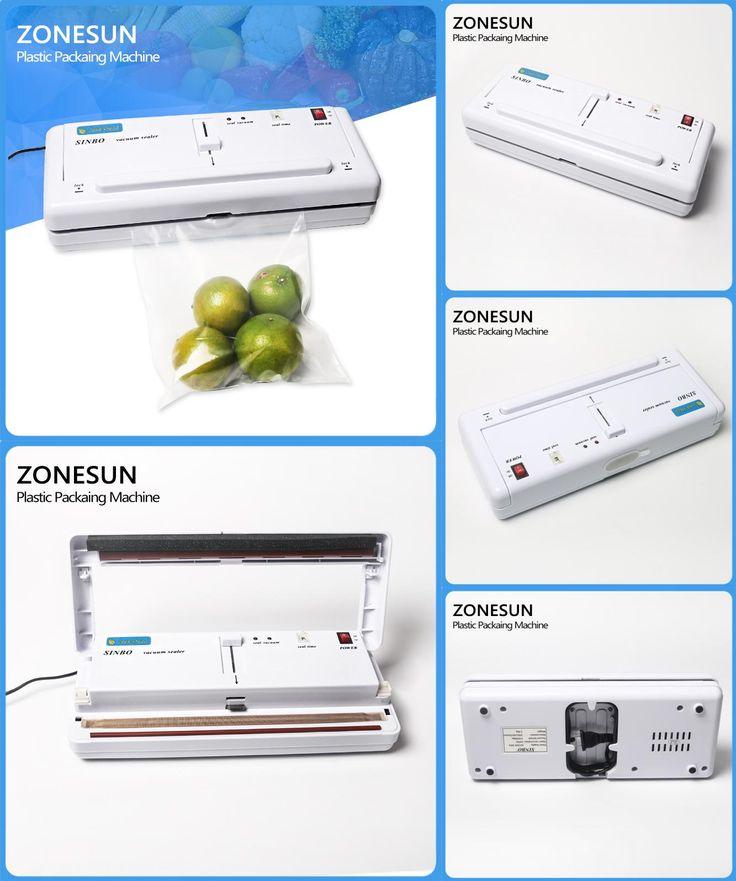 [Visit to Buy] Free Express Shipping Household Vacuum food packaging machine,plastic film sealer,plastic packaing machine #Advertisement