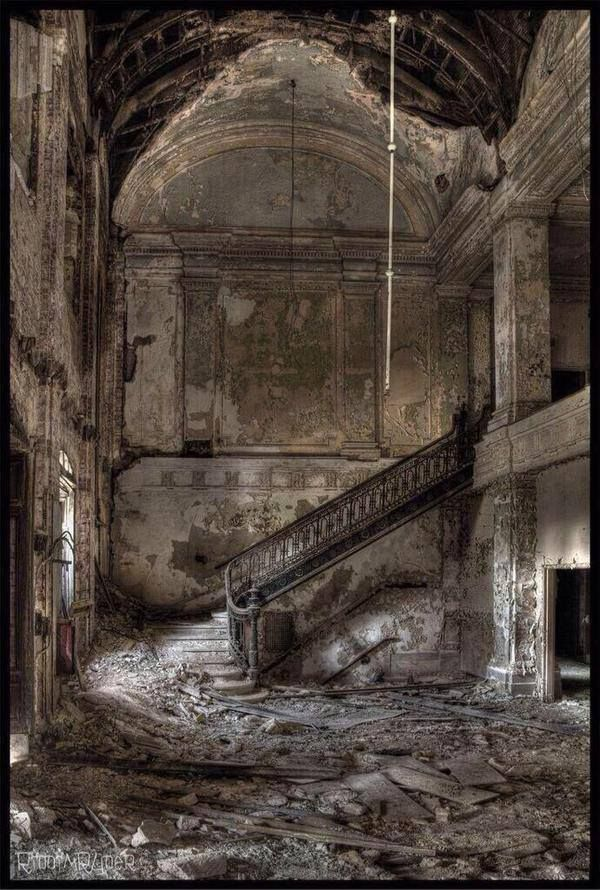 Abandoned high school.