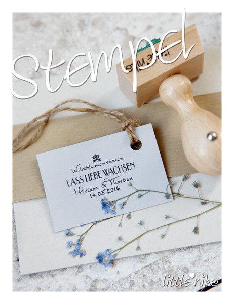 Gastgeschenke - Stempel HOCHZEIT für Gäste Wildblumensamen - ein Designerstück von littlenika bei DaWanda