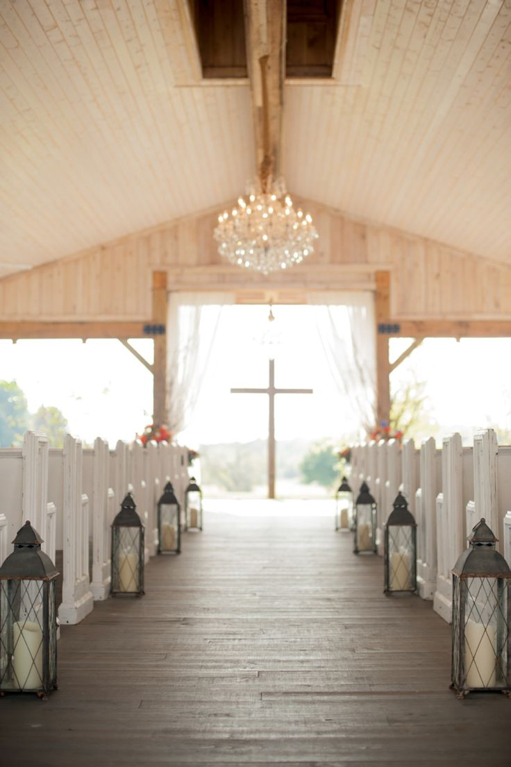 Orange Cornflower Blue Tennessee Wedding Chapel Decorations Outdoor