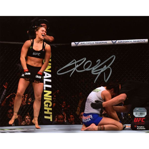 "Ronda Rousey Ultimate Fighting Championship Fanatics Authentic Autographed 8"" x 10"" UFC 184 Over Cat Zingano Photograph - $99.99"