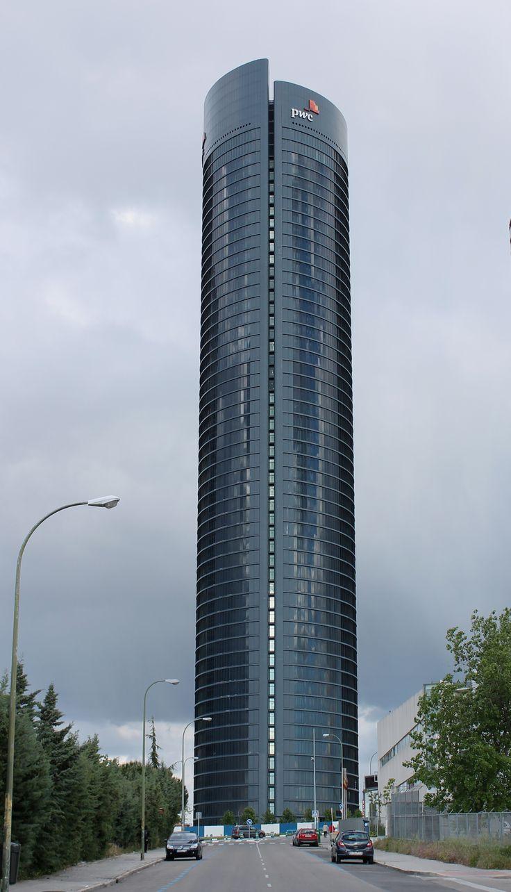 Los 10 mejores rascacielos de España. Torre PWC. Madrid