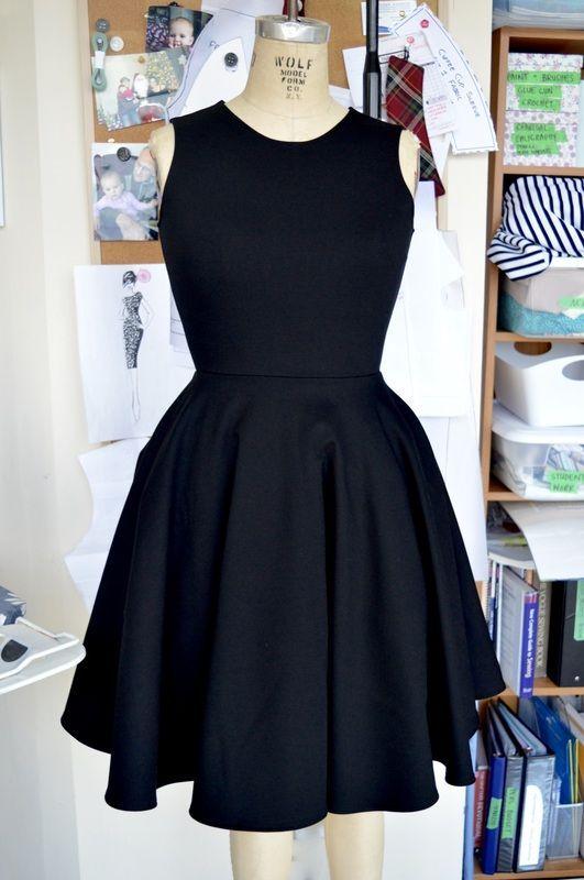 robe noire patron gratuit
