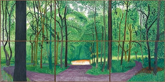 Hockney: A Bigger Picture at the Royal Academy - a fantastic exhibition polkadot.it