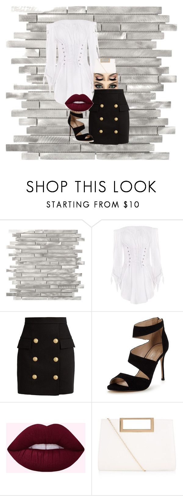 """Untitled"" by keelagirl on Polyvore featuring Balmain, Carvela and New Look"