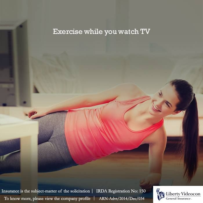 Watch your favorite TV shows while on the treadmill or stationary bike. Two episodes a day should be enough! #HealthTips