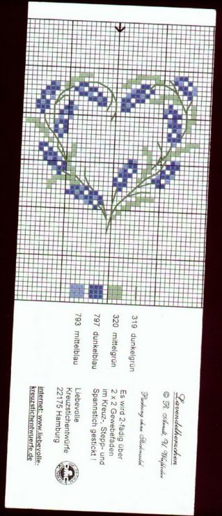 Little Lavender [Cross Stitch - Spring - Flowers] [Pattern / Chart]