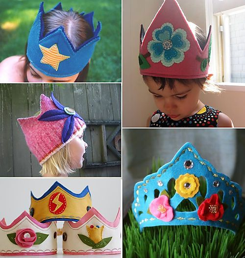 Hinterland Mama: Felt Birthday and Dress-up Play Crowns - Part I