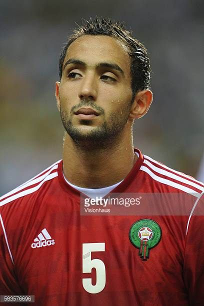 Mehdi Amine El Mouttaqui of Morocco during the 2012 African Cup of Nations Group C match between Gabon and Morocco at the Stade de l'Amitie in...