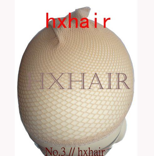 Freeshipping - 200pcs No.3 Hairnets Wigs Cap / Women's Accessories Wigs Mesh Weaving / Black & Beige