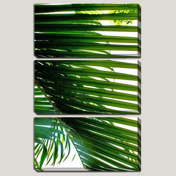 Never Let You Go 3 Panel Canvas Art Palm Frond Palm by JoelleJoy