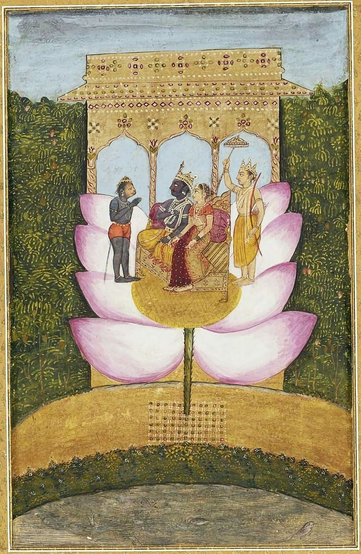 Hindu Cosmos - Rama and Sita with Hanuman and Lakhshman circa...