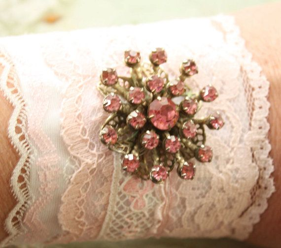 Layered Vintage Lace Cuff Recycled Romantic by ElegantFarmhouse, $34.00
